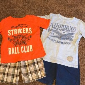 Other - Bundle of 2 boys short outfits. Size 6/7